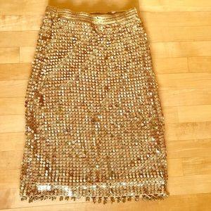 Betsy Johnson knitted sequined skirt
